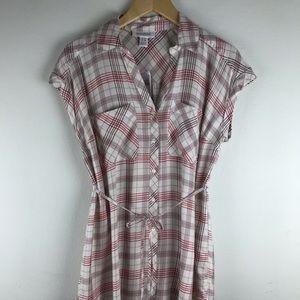 Motherhood Maternity Plaid Shirt Blouse Top